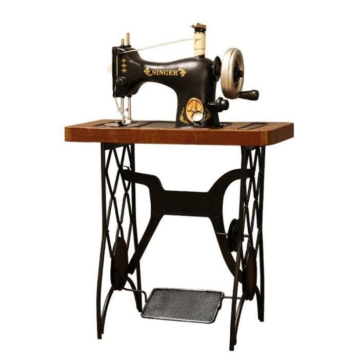 Vintage fer Machine à coudre modèle vêtements boutique fenêtre ornements ancien objet décoration artisanat créatif