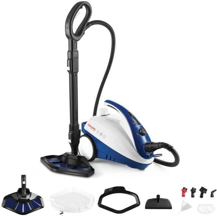 Polti PTEU0269 Vaporetto Smart 40_Mop Nettoyeur Vapeur Brosse Vaporforce, 1800 W, 1.6 litres, Bleu. Tue et élimine 99,99%* des virus