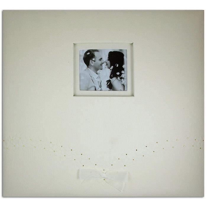 Toga AL105 Album de Scrapbooking Mariage, Carton, Ivoire, 30,5 x 30,5 x 2,5 cm