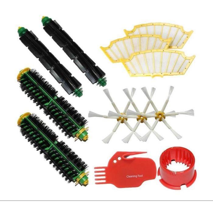 Kit pour iRobot Roomba 500 Série Roomba 510, 530, 535, 540, 560, 570, 580, 610 Aspirateur Robots tous Vert, Rouge, Noir nettoyage