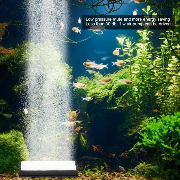 Diffuseur de bulle de pompe à oxygène de raffinerie d'aération de réservoir de poissons de barre Aquarium Nano Air Stone(L)-CHD