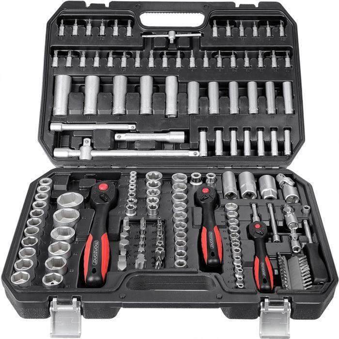 Monzana - Malette à outils • 222 pièces - Acier au chrome vanadium • kit outils, coffret de réparation - Ensemble, bricolage