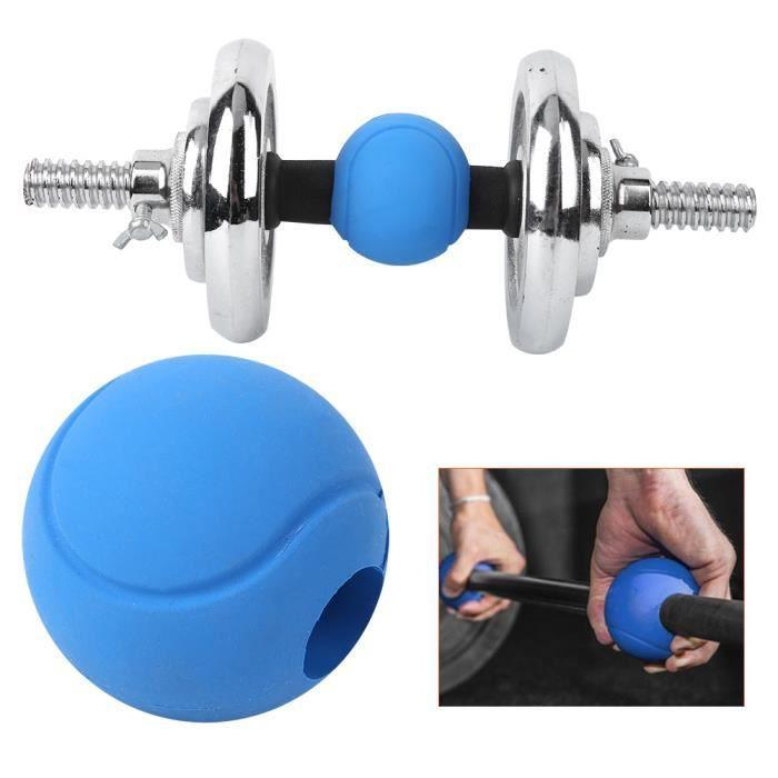 Silicone Barre ronde Poignées Barre Haltère Adaptateur Boules Enveloppement à la Main (Barbell Grips )-HEN