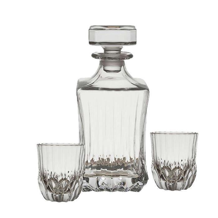 Coffret carafe 6 verres Whisky Abelia 09x22cm 09cm Transparent
