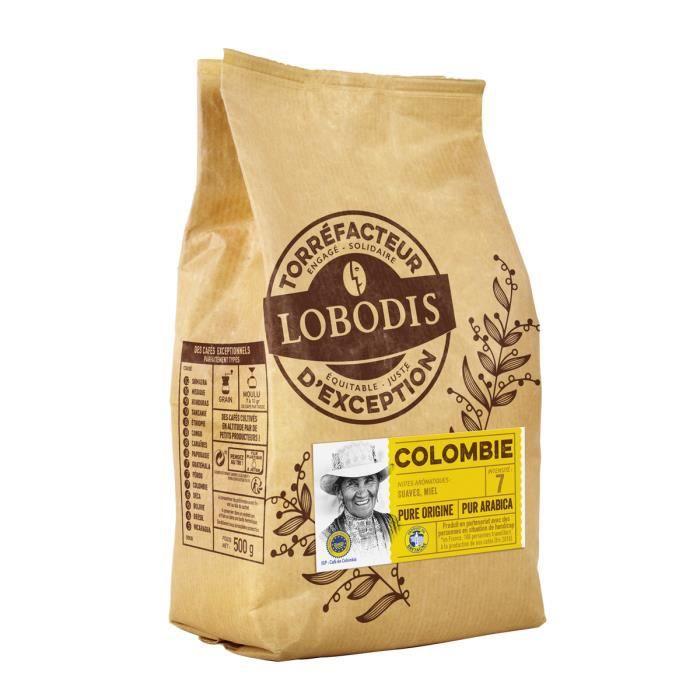 Café Grains Colombie IGP LOBODIS 500g