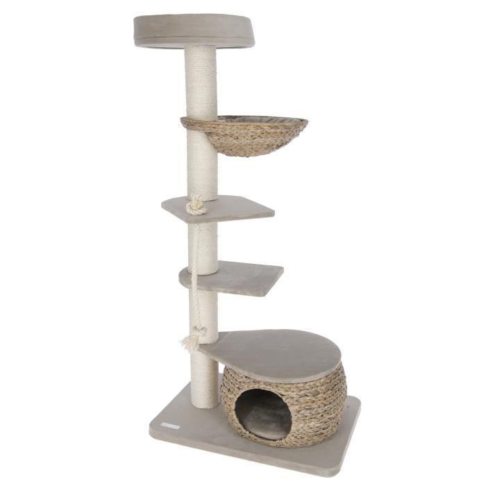BANANA LEAF TOWER Arbre à chat 70x50x160cm - Beige