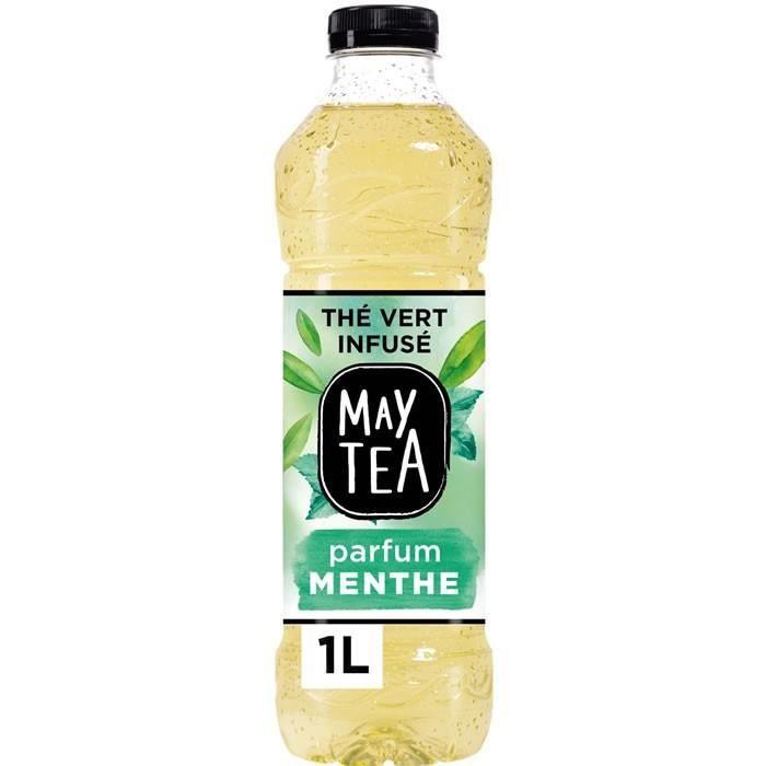 LOT DE 2 - MAY TEA : Thé vert - Thé glacé infusé à la menthe 1 L