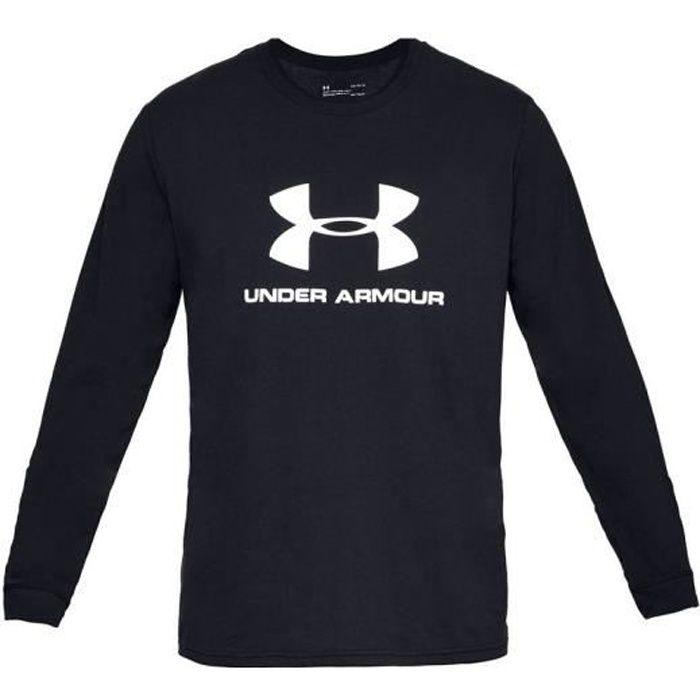 Under Armour Sportstyle Logo Long Sleeve 1329283-001 longsleeve pour homme Noir