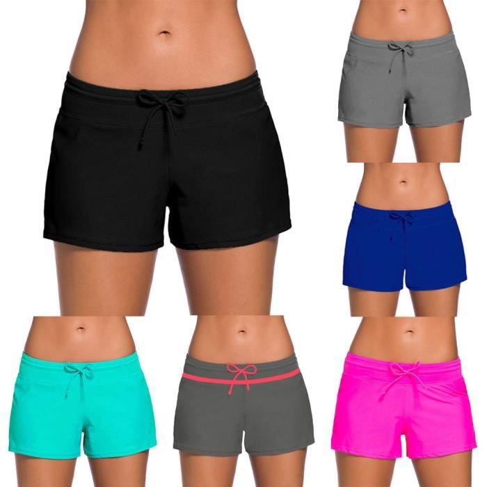 femme Shorts tankini Slip Plus Size Bas Boardshort Short Noir MAILLOT DE BAIN DE NATATION