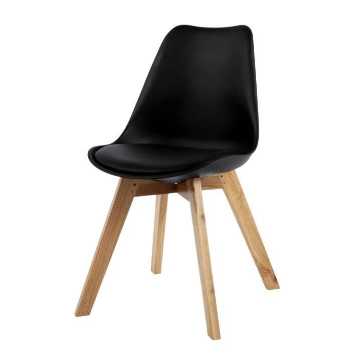 Chaise design scandinave noire Norway