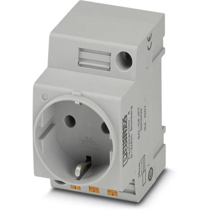 Prise 2P+T modulaire Phoenix Contact EO-CF/PT 804038 gris (L x l) 60 mm x 45 mm 1 pc(s)