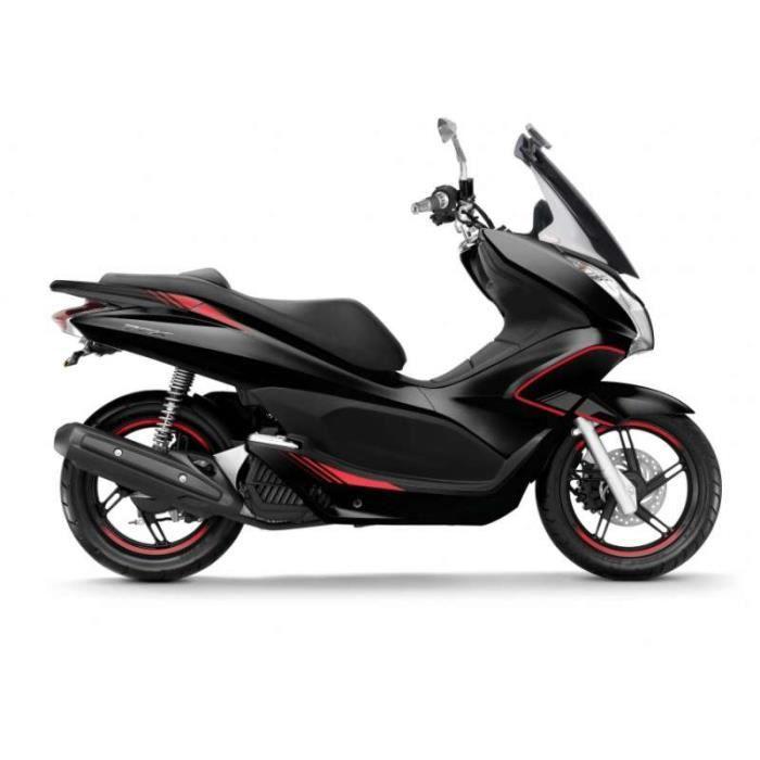 Kit déco Puig (6553N) noir/rouge Honda PCX 125