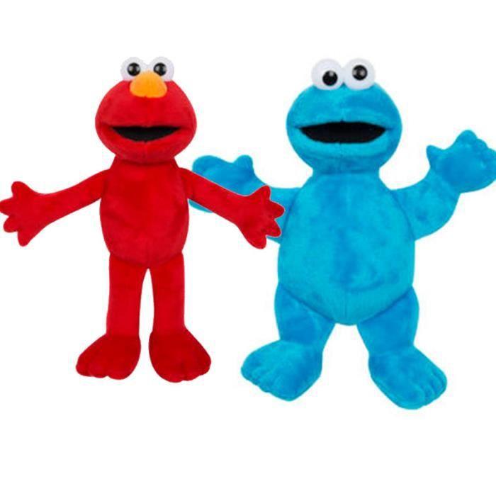 Ensemble Peluche Elmo et Cookie Monster de 25 cm