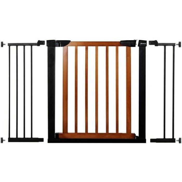 SPRINGOS® Barrière de Sécurité Bébé, Enfant pour Escaliers, Portes 75-124 cm