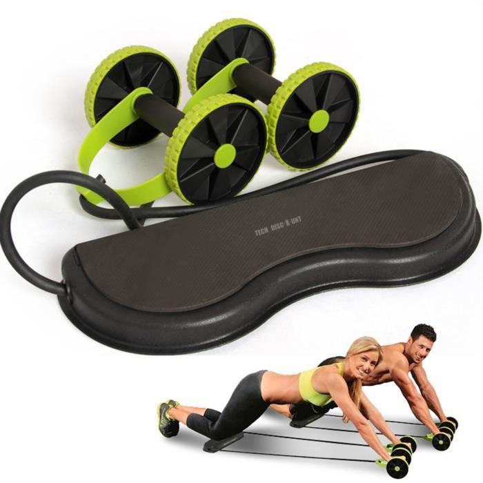 TD® Roue abdominale multifonctionnelle Dispositif de rallye à double roue Corde de traction à rouleau de muscle abdominal rebond