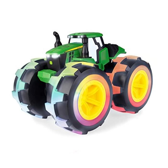Voiture Electrique TOMY W3IMO John Deere Monstre Treads Deluxe Foudre Roues Tracteur