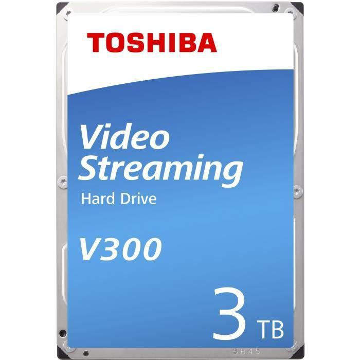 Toshiba V300 3 To - Disque dur 3.5- 3 To 5940 RPM 64 Mo Serial ATA III pour Streaming ( Catégorie : Disque dur interne )