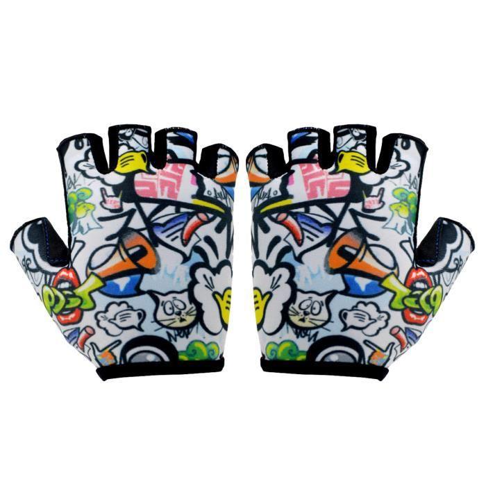 1 paire de gants d'équitation antichoc enfants respirants de doigt de ventilation de vélo de ACCESSOIRES VELO - DECORATION VELO