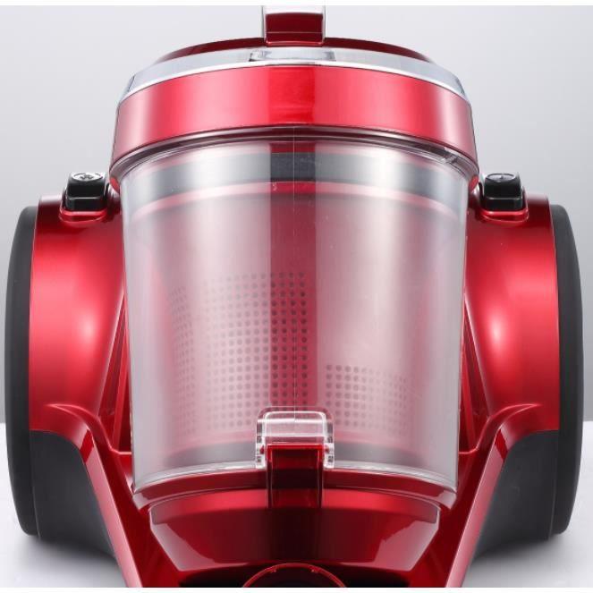 WEIRAY® Aspirateur Balai à Main Nettoyeur 2 En 1 - 1200W - Rouge