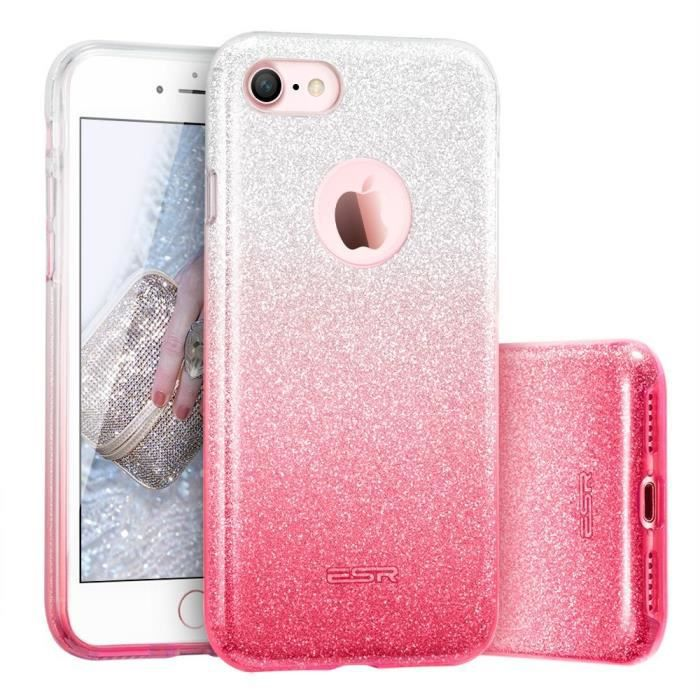 coque iphone 8 rose esr iphone 8 coque paillette