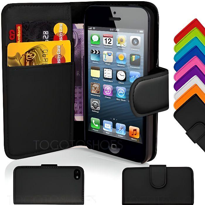coque housse etui portefeuille en cuir iphone 4