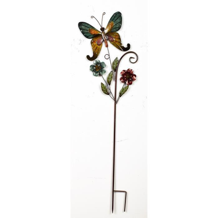 Lot de 2 Hanging seaux avec papillon design adapté pour les plantes et fleurs