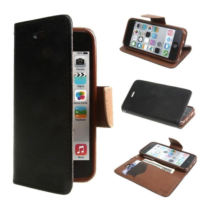 ivencase pour apple iphone 5c coque housse tui rabat. Black Bedroom Furniture Sets. Home Design Ideas