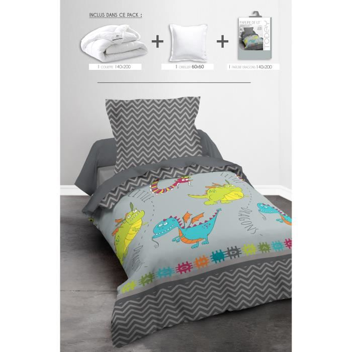 today pack linge de lit enfant dragons 1 couette. Black Bedroom Furniture Sets. Home Design Ideas