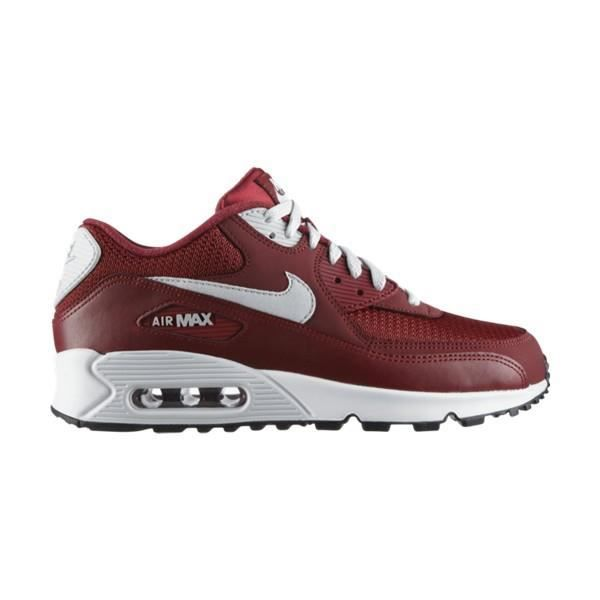 NIKE AIR MAX 90 ESSENTIAL Rouge Bordeaux - Cdiscount Chaussures