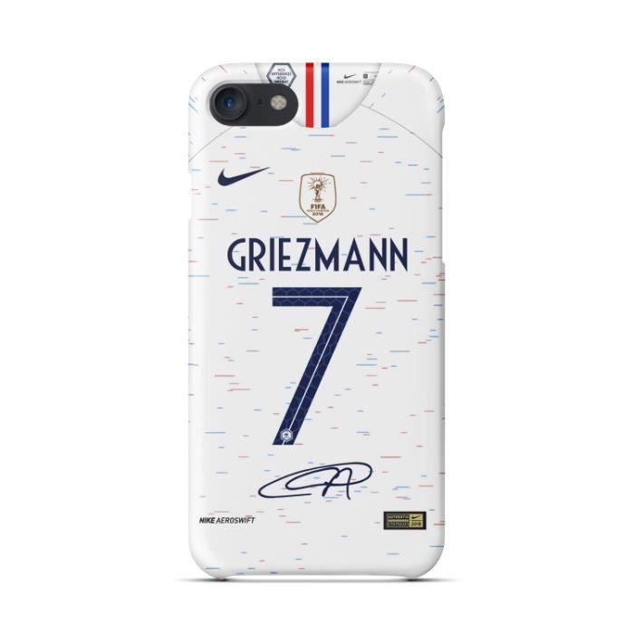 coque iphone 6 6s griezmann blanc 2018 coupe du mo