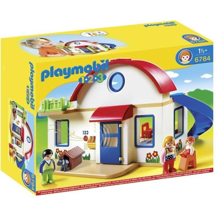 playmobil 1 2 3 6784 maison de campagne achat vente. Black Bedroom Furniture Sets. Home Design Ideas