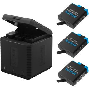 BATTERIE APPAREIL PHOTO AFAITH Chargeur de Batterie, Batterie 3 PCS + 3 Sl