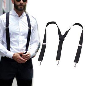 BRETELLES Hommes Accolades Noir 23mm Y Suspenders Retour Rob