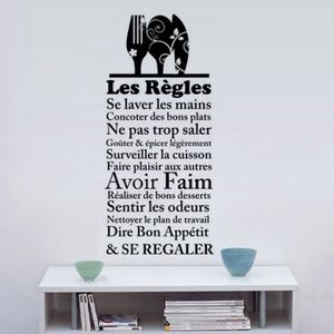 stickers regles de la maison achat vente stickers regles de la maison pas cher soldes. Black Bedroom Furniture Sets. Home Design Ideas