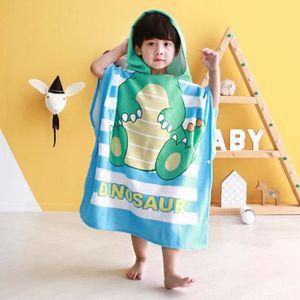 Multi-usage pour le bain//natation//piscine//douche Serviette poncho super absorbante en microfibre douce Pour enfants de moins de 6 ans Serviette de plage avec capuche pour gar/çons et filles