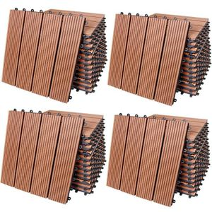 REVETEMENT EN PLANCHE 44x Dalles de terrasse en bois composite WPC Class