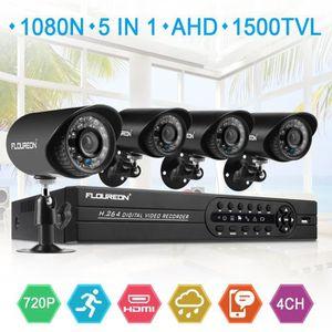ENREGISTREUR VIDÉO FLOUREON Kit Caméra de Surveillance 1 X 4CH 1080N