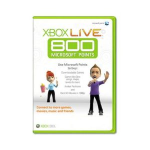 JEUX XBOX 360 Xbox 360 Live Points 800 Points Sleeved, NL