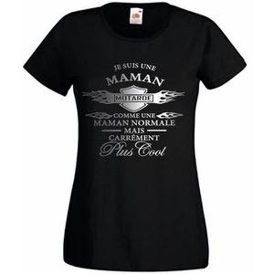 T-SHIRT Tee-shirt femme MAMAN MOTARDE - Idée cadeau annive