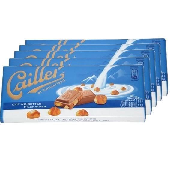 5 Tablettes Cailler Lait Noisettes