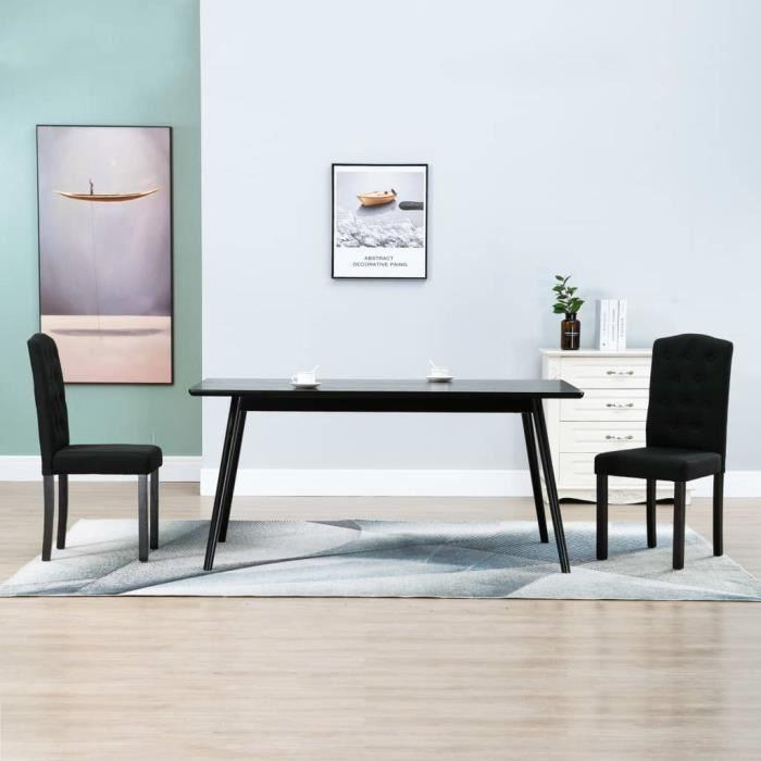 Chaises de salle à manger 2 pcs Noir Tissu #957 -PAI