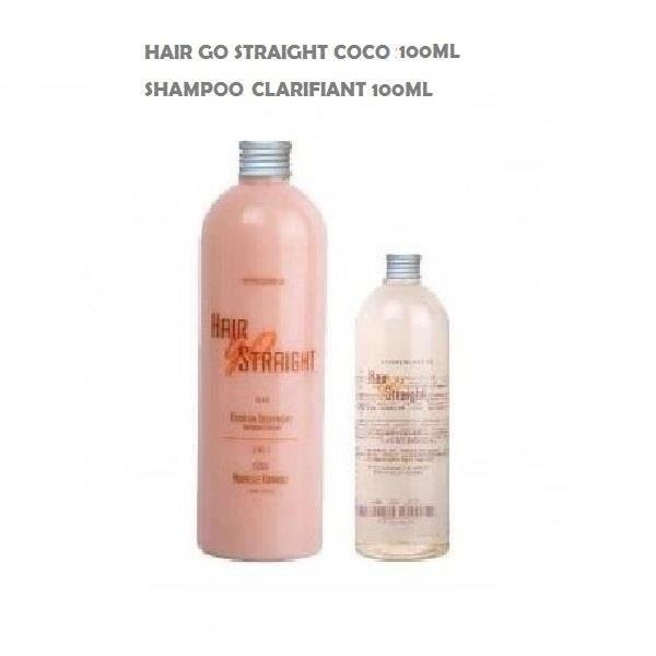 HAIR GO STRAIGHT Kit Lissage Brésilien Coco - 100 ml