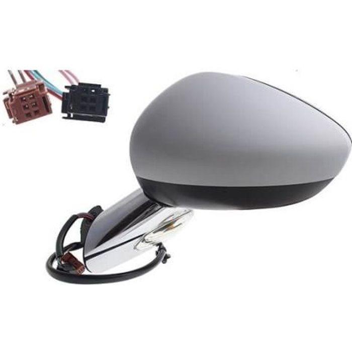 Rétroviseur électrique droit à peindre chauffant avec sonde support chromé Citroen DS3 depuis 2010 RA30510