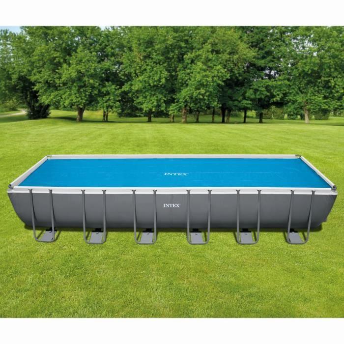 Intex Bâche de protection pour piscine rectangulaire - 732 x 366 cm - Aide à garder l'eau de la piscine chaude