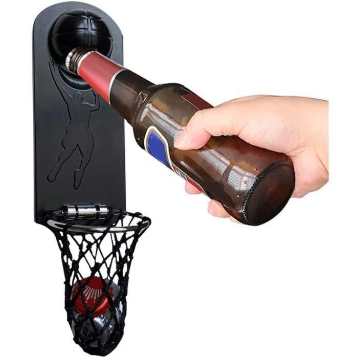 Ouvre-Bouteille De Basket-Ball avec Métal Magnétique, Ouvre-bière Mural Monté avec Capuchon, Autocollant De Réfrigérateur