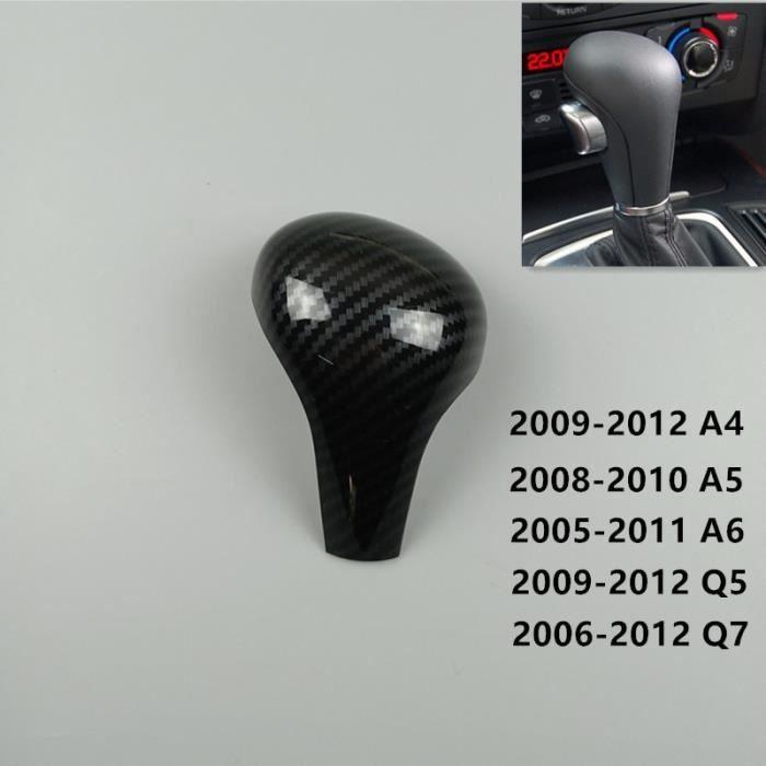 Carbon Fiber -Tête de pommeau de levier de vitesse de style de voiture pour Audi A4 B7 A5 A6 C6 Q5 Q7 LHD à vitesse poignée de chang