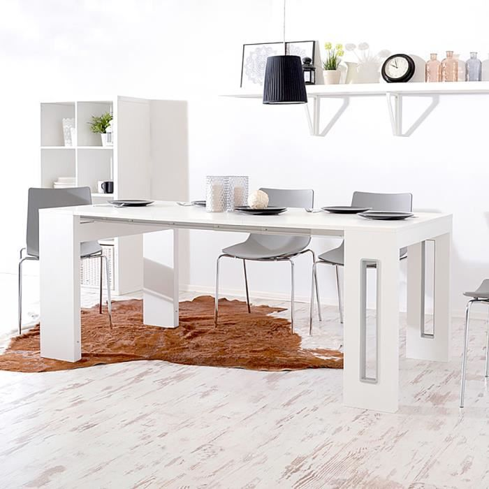 Table à rallonges / Console extensible - ROMANSIA - 90 cm - blanc - 3 rallonges - style moderne - fabrication italienne