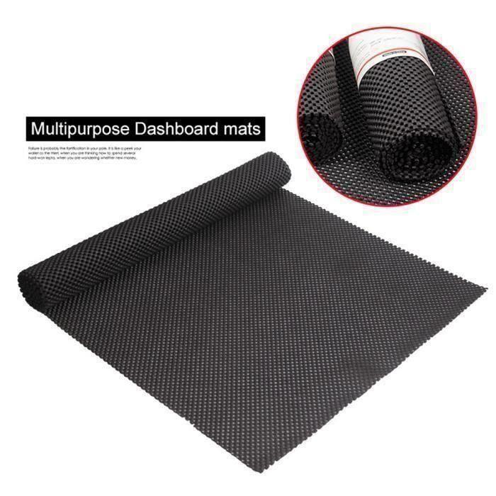 PVC Tapis de Cuisine Antidérapant Absorbant Tapis de Sol 150*50cm (Noir)