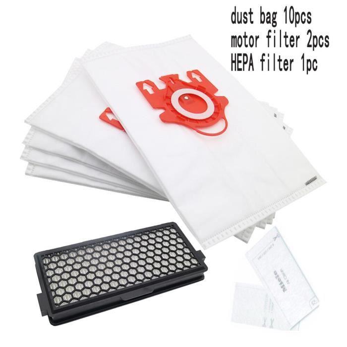 1 filtre HEPA 2 filtre moteur & 10 sacs à poussière pour aspirateur Miele 3D GN S5000 S8000 complet C2 C3 S5 S8 SF 50*CB3095