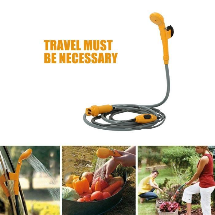 12V Douche de Camping Extérieur Électrique Portable - Outils Lavage Douche pour le voyage de camping voiture -ABI
